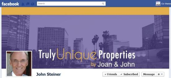 Featured Real Estate Facebook Cover Photo: John Steiner, Keller Williams Realty