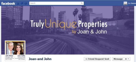 Featured Real Estate Team Facebook Cover Photo: Joan & John