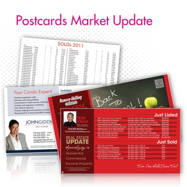Marketing Update Postcards (+ Mailing option)